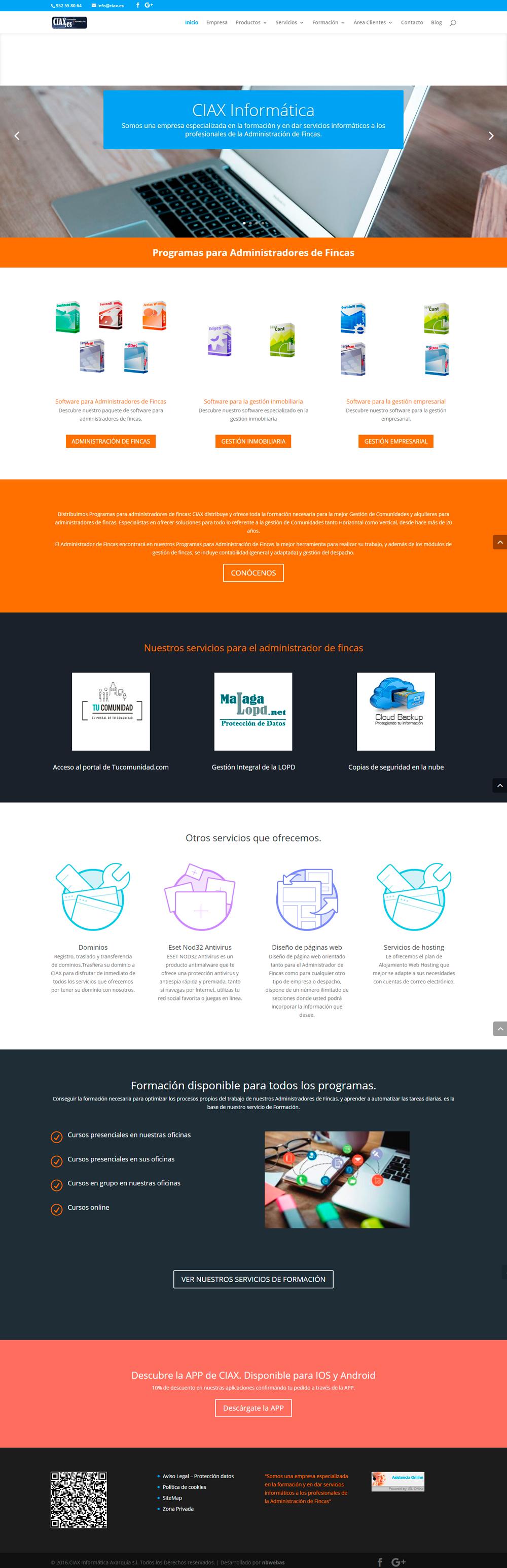 web responsive para ciax